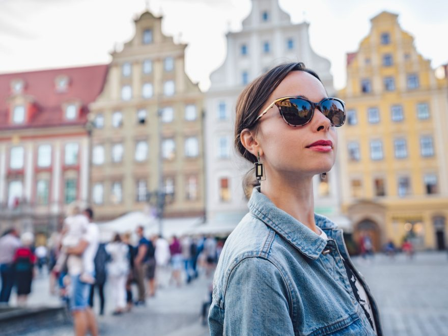 Attractive girl in Wroclaw